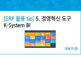 [ERP 활용 tip] 5. 경영혁신 도구 K-System BI